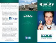 View our latest quality data - Doctors Hospital