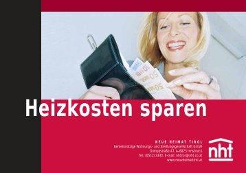 Heizkosten sparen - Neue Heimat Tirol