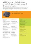 Speed up GPRS integration MC35i Terminal - Wireless Data Modules - Page 2