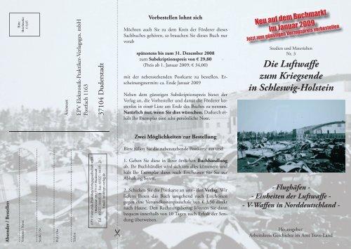 Die Luftwaffe zum Kriegsende in Schleswig-Holstein