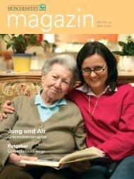 Magazin - Münchenstift