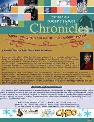 Winter 2013 Newsletter - Roger's House