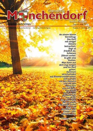 Gemeindenachrichten Oktober 2012 - online zum Nachlesen!