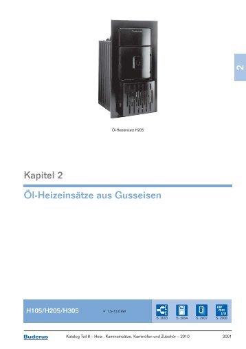 2 Kapitel 2 Öl-Heizeinsätze aus Gusseisen - Buderus