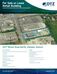 For Sale or Lease Retail Building - DTZ