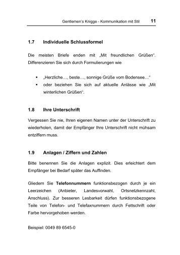 11 17 Individuelle Schlussformel 18 Ihre Unterschrift 19 Anlagen