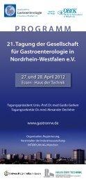 programm - bei der Gesellschaft für Gastroenterologie in Nordrhein ...