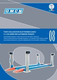 ponti sollevatori elettromeccanici a 4 colonne per automezzi