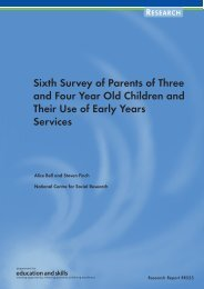 Sixth Survey of Parents of Three and Four Year Old Children and ...