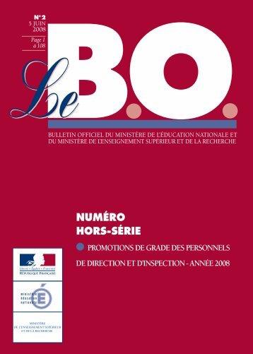 NUMÉRO HORS-SÉRIE - Ministère de l'Éducation nationale