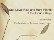 Sea Level Rise and Rare Plants of the Florida Keys