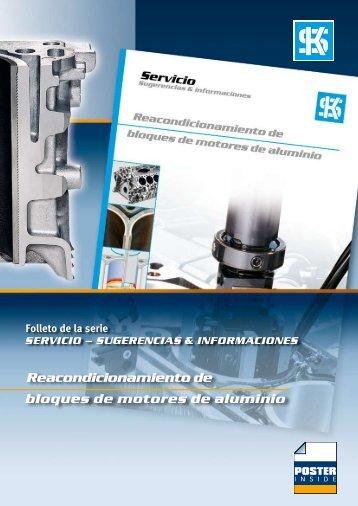 Reacondicionamiento de bloques de motores de aluminio Folleto ...