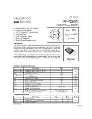 Datasheet for the IRFP260N