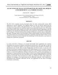 Allocation de Niveaux d'Intégrité de Sécurité - Revue internationale ...
