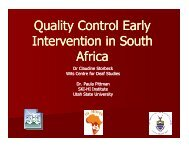 Quality Control in Early Intervention - National Center for Hearing ...