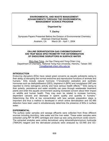 On-Line Derivatization Gas Chromatography Ion Trap Mass ...
