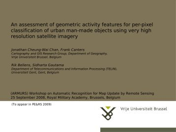 ensemble classifiers for hyperspectral classifications - ARMURS