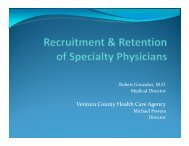 Recruitment & Retention of Specialty Providers - Safety Net Institute