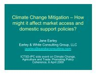 Climate Change Mitigation – How might it affect market access and ...