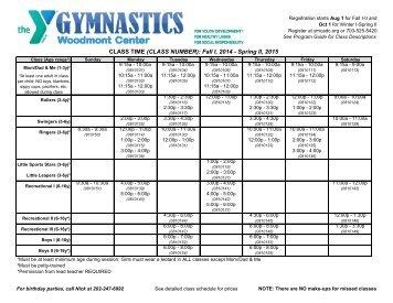 Gymnastics Schedule