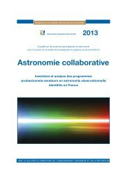 Sciences participatives en astronomie - Association française d ...