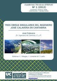 Tres obras singulares del ingeniero José Calavera en Cantabria ...