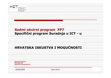 Specifični program Suradnja u ICT-u - Project T-Pot