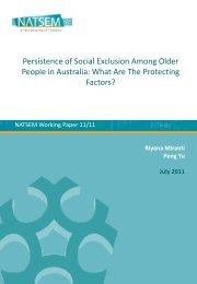 Persistence of Social Exclusion Among Older People in Australia ...