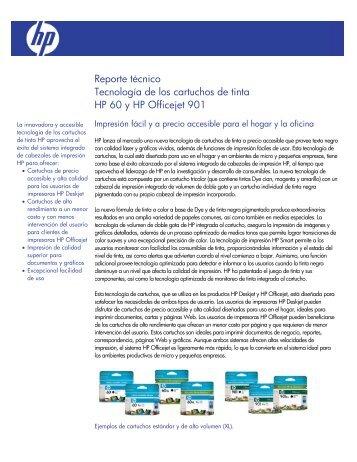 Reporte técnico Tecnología de los cartuchos de tinta HP 60 y ... - ITM