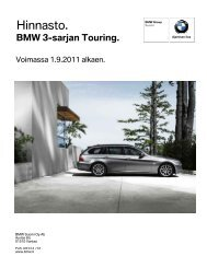 BMW 3-sarjan Touring (E91), Hinnasto ja Limited Business Edition ...