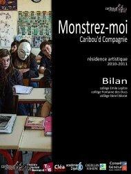 Bilan de la résidence de Cariboud'cie en 2010-2011 - Conseil ...