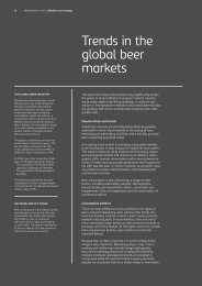 Trends in the global beer markets - Carlsberg Group