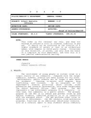 DRAFT 2-27.1 POLICE/SHERIFF'S DEPARTMENT GENERAL ...