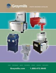 Rugged aqueous parts washer - Graymills