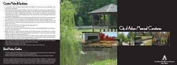 Auburn Municipal Cemeteries Brochure - City of Auburn