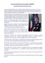 Curriculum Vitae del Generale Roberto Nordio - Aeronautica Militare ...
