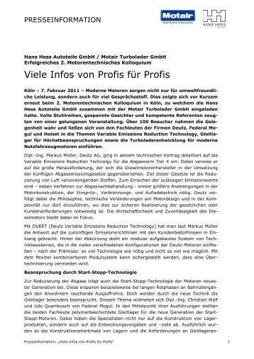Viele Infos von Profis für Profis - Motair Turbolader