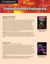 Communications Engineering - Cambridge University Press India
