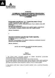 PDF, 2 576 kB - Kooperativa, pojišťovna, a.s.