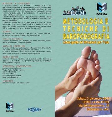 METODOLOGIA E TECNICHE DI BAROPODOGRAFIA