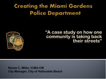 Trends in Violence by Rene Miller - Florida City and County ...