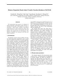 Distance Dependent Head-related Transfer Function Database of ...