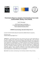 Third Interim Report on Analysis of Archaeofauna from Undir ... - Nabo