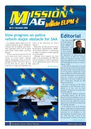 Mission MAG 08.qxp - European Union Police Mission in Bosnia ...