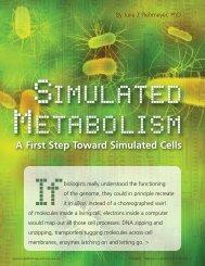 Simulated Metabolism - Biomedical Computation Review