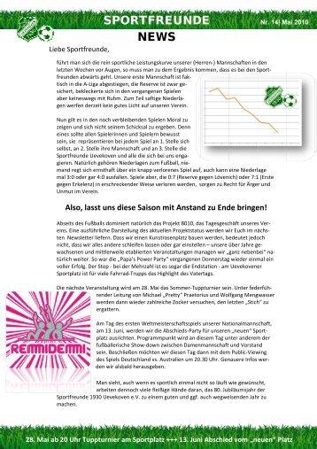 Newsletter Nr. 14, Mail 2010 - Sportfreunde 1930 Uevekoven eV