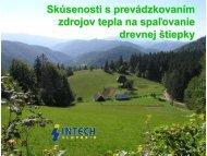 Skúsenosti s prevádzkovaním zdrojov tepla na ... - biomasa-info.sk