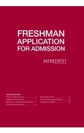 Freshman Undergraduate Application for ... - Meredith College