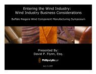 Entering the Wind Industry - Buffalo Niagara Enterprise