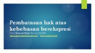 Pembatasan hak atas kebebasan berekspresi.pdf - Elsam